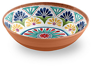 Melamine Rio Medallion Low Serve Bowl, , large