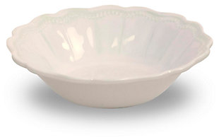 Tarhong Saville Scallop Oyster Luster Bowl (Set of 6), White, large