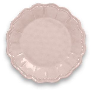 Tarhong Saville Scallop Pearl Blush Salad Plate (Set of 6), Pink, large