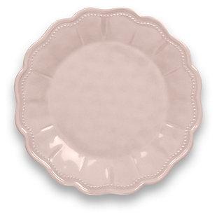 Tarhong Saville Scallop Pearl Blush Salad Plate (Set of 6), Pink, large