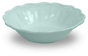 Tarhong Saville Scallop Glacier Blue Bowl (Set of 6), Blue, rollover