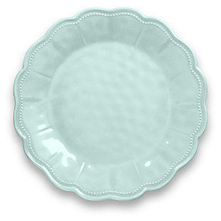 Tarhong Saville Scallop Glacier Blue Dinner Plate (Set of 6), Blue, large