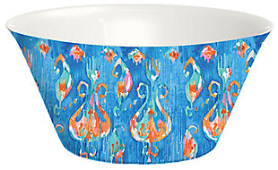 Tarhong Bali Summer Brights Blue Lotus Serve Bowl, , large