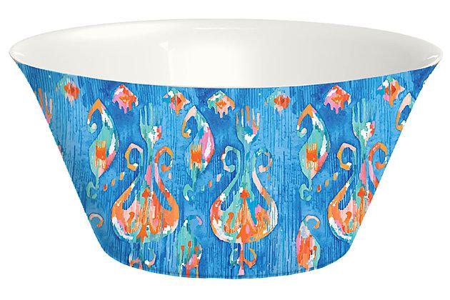 Tarhong Bali Summer Brights Blue Lotus Serve Bowl, , large