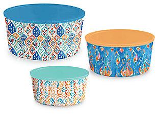 Tarhong Bali Brights Lidded Bowls (Set of 3), , large