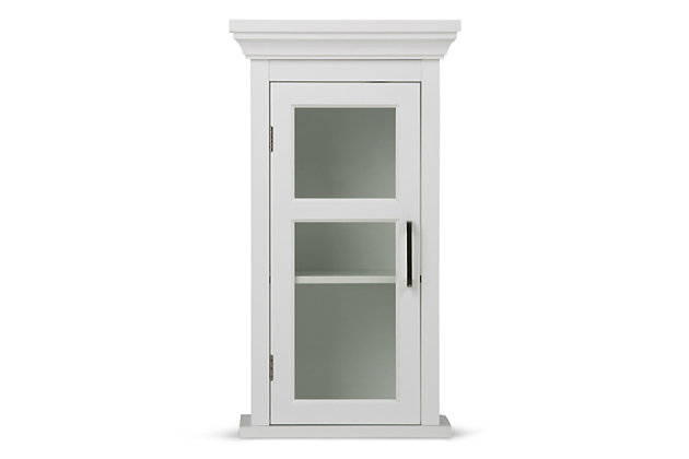 Contemporary Avington Single Door Wall Cabinet, , large