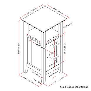 Rustic Acadian Floor Storage Bath Cabinet, , large