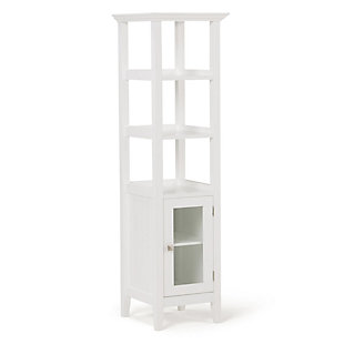 Rustic Acadian Bath Storage Tower Bath Cabinet, , large