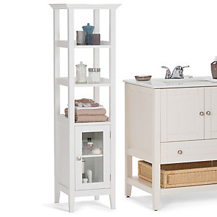 Rustic Acadian Bath Storage Tower Bath Cabinet, , rollover