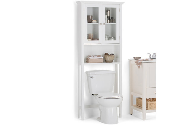 Rustic Acadian Over The Toilet Space Saver Bath Cabinet, , large