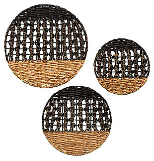Home Accents Arver Water Hyacinth Wall Décor (Set of 3), , large