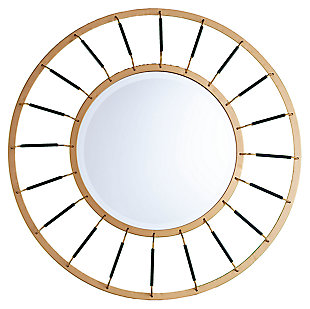 Home Accents Nicholi Round Decorative Mirror, , large