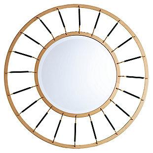 Home Accents Nicholi Round Decorative Mirror, , large
