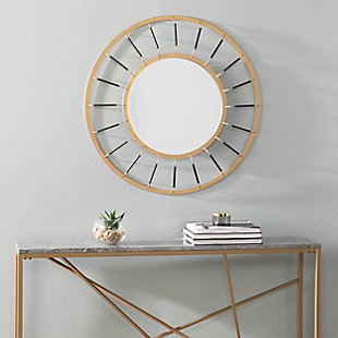 Home Accents Nicholi Round Decorative Mirror, , rollover