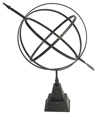 Ashley Home Accents Gyroscope Sculpture, Black