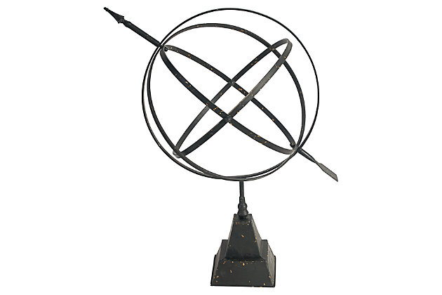 Black Home Accents Gyroscope Sculpture by Ashley HomeStore