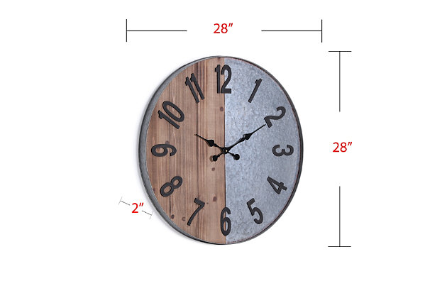 Home Accents Arvin Wall Clock, , large