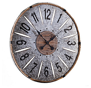 Home Accents Landon Decorative Wall Clock, , large
