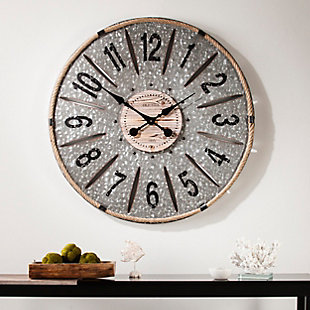 Home Accents Landon Decorative Wall Clock, , rollover