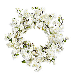 """Home Accents 24"""" Cherry Blossom Wreath, , rollover"""