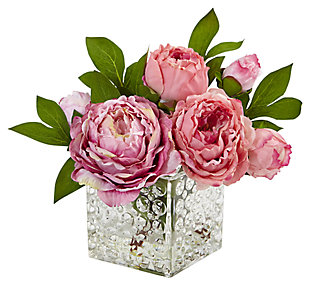 Home Accents Peony in Glass Vase, , large