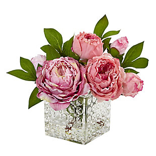 Home Accents Peony in Glass Vase, , rollover
