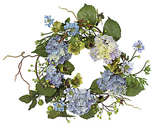 "Home Accents 20"" Hydrangea Wreath, , large"