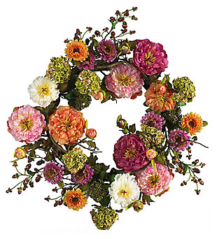 "Home Accents 24"" Mixed Peony Wreath, , large"