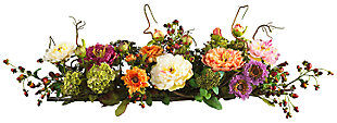 Home Accents Mixed Peony Centerpiece Silk Flower Arrangement, , large