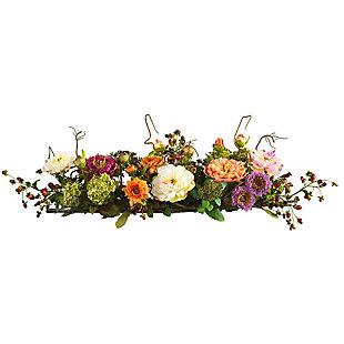 Home Accents Mixed Peony Centerpiece Silk Flower Arrangement, , rollover