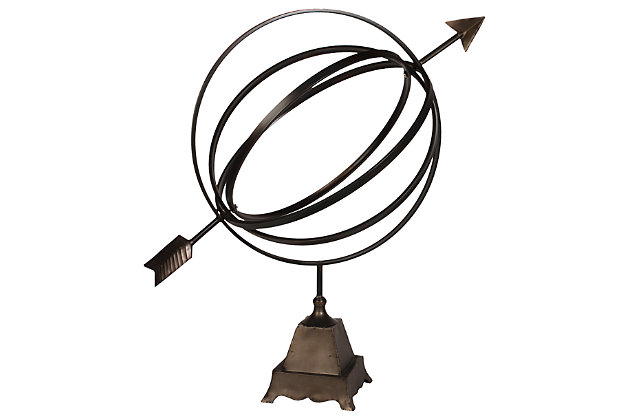 Home Accents Gyroscope Sculpture by Ashley HomeStore, Brown