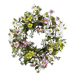 "Home Accents 20"" Dogwood Wreath, , rollover"