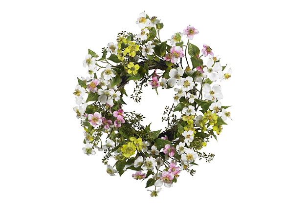 "Home Accents 20"" Dogwood Wreath, , large"