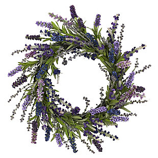 "Home Accents 20"" Lavender Wreath, , rollover"