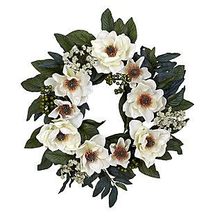 """Home Accents 22"""" Magnolia Wreath, , rollover"""