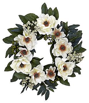 "Home Accents 22"" Magnolia Wreath, , large"