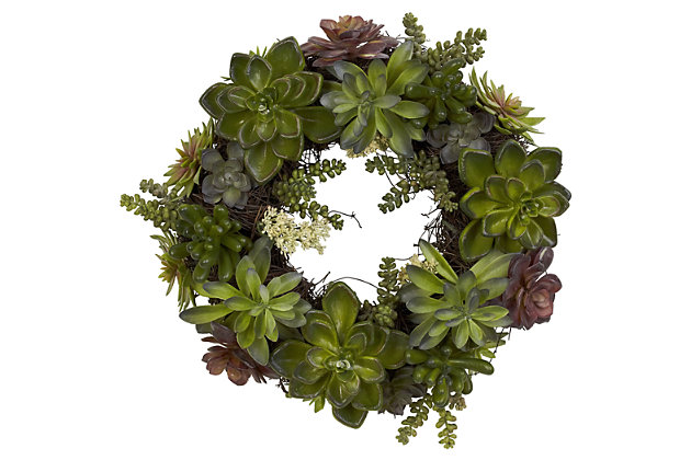 "Home Accents 20"" Succulent Wreath, , large"