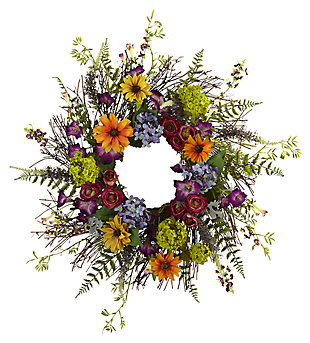 "Home Accents 24"" Spring Garden Wreath with Twig Base, , large"