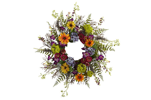 """Home Accents 24"""" Spring Garden Wreath with Twig Base, , large"""