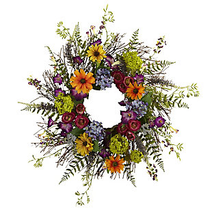 """Home Accents 24"""" Spring Garden Wreath with Twig Base, , rollover"""