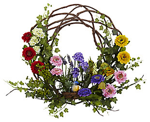 "Home Accents 22"" Spring Floral Wreath, , large"