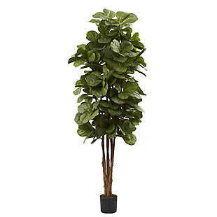 Home Accents 6' Fiddle Leaf Fig Silk Tree, , rollover