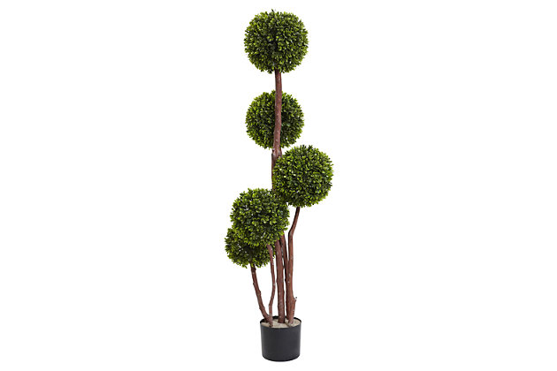 Home Accents 4' Boxwood Five Ball Topiary UV Resistant (Indoor/Outdoor), , large