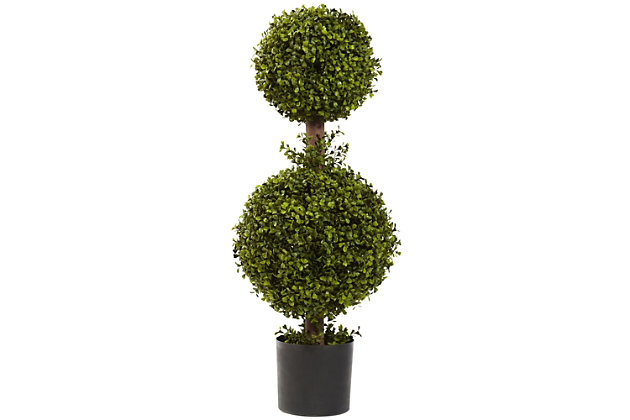 """Home Accents 35"""" Double Boxwood Topiary, , large"""