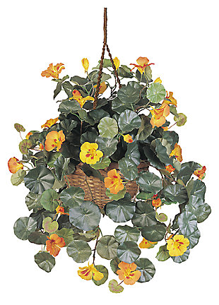 Home Accents Nasturtium Silk Hanging Basket, , large