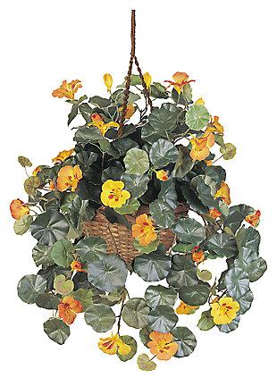 Home Accents Nasturtium Silk Hanging Basket, , large