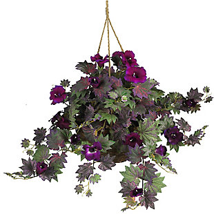 Home Accents Morning Glory Hanging Basket Silk Plant, , rollover