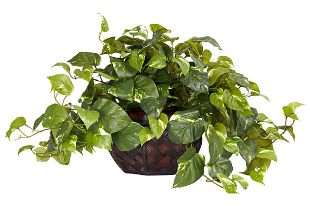 Home Accents Pothos with Decorative Vase Silk Plant, , large