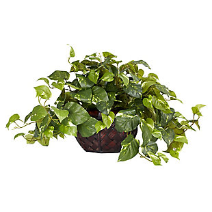 Home Accents Pothos with Decorative Vase Silk Plant, , rollover