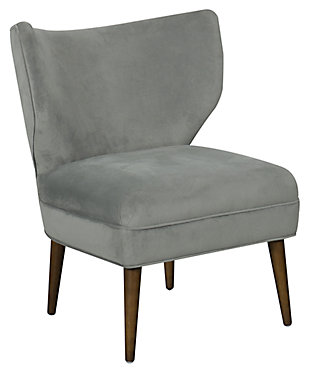 HomePop Wingback Accent Chair, Gray, large